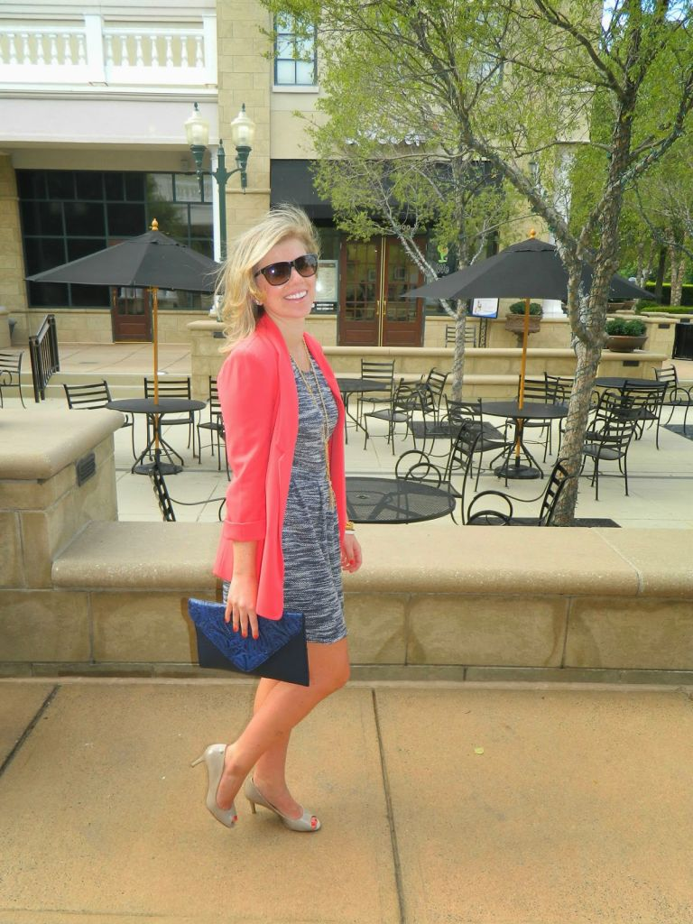 Navy + Coral