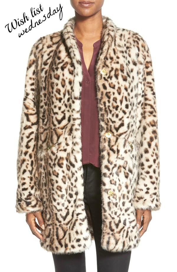 Coat, Jacket, Faux Fur, Cheetah Coat, Via Spiga Coat