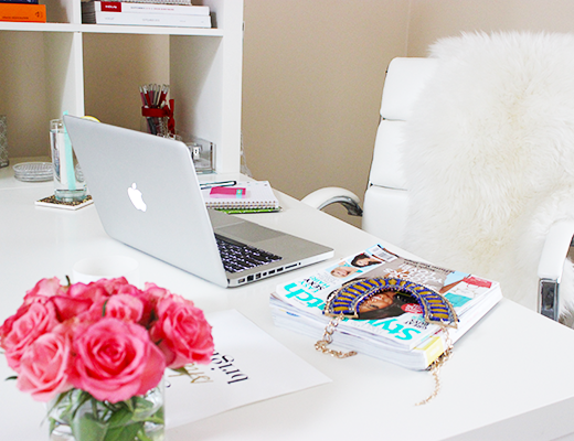 blogger desk, blogger desk style, desk style, on my desk, white desk