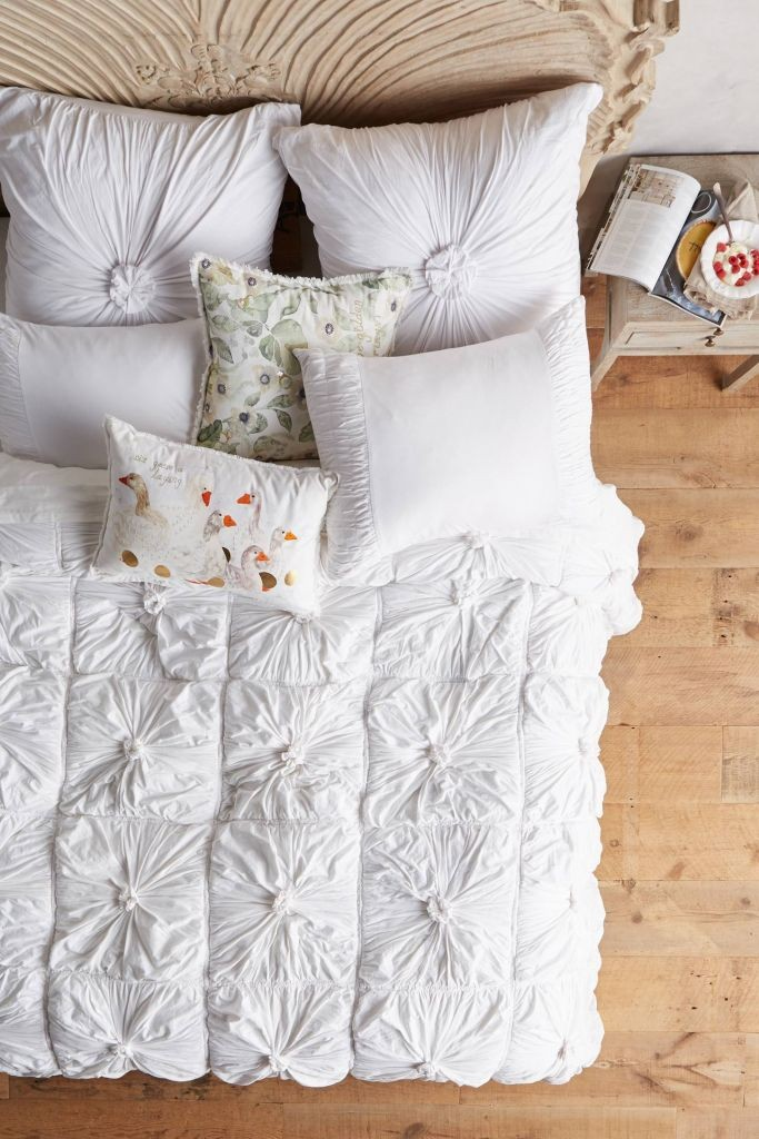 Anthropologie Bedding, Anthropologie Decor, White Duvet Cover, Home Decor