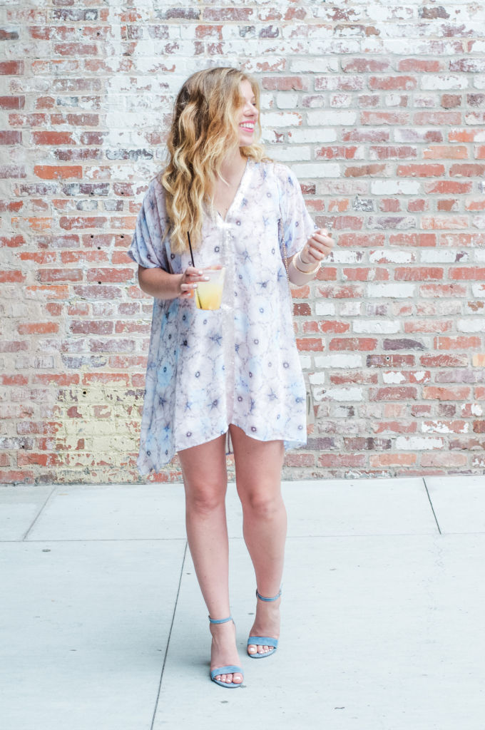 Anthropologie Dress, Anthro Dress, Anthrofinds, Summer Date Night Style, Floral Mini Dress, King of Pops Cocktail, The Blog Society Conference