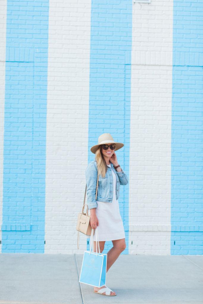 LWD, Summer Dress, Louella Reese LWD, J.Crew Style, White Eyelet Dress, Nashville
