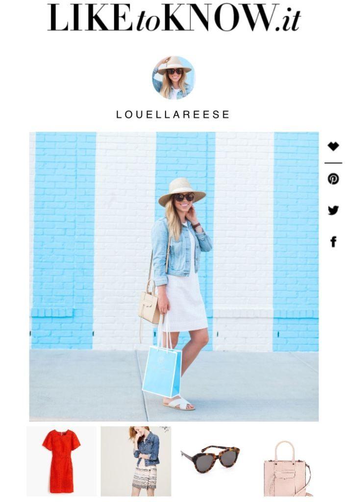 Louella Reese LIKEtoKNOW.it, LIKEtoKNOW.it Instructions, How To Do LIKEtoKNOW.it