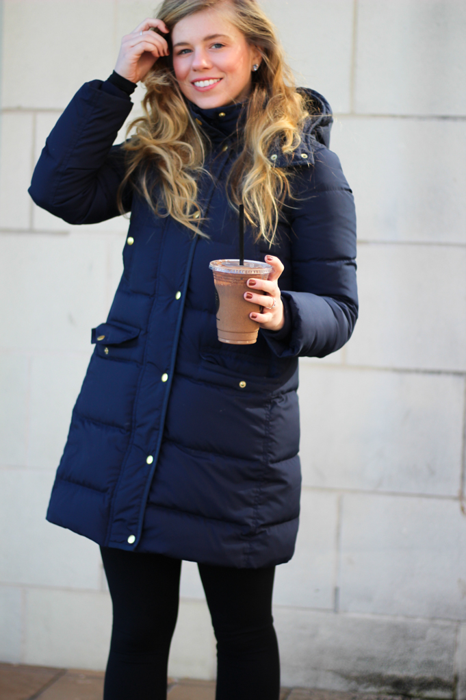 Juice Bar, J.Crew Wintress Belted Puffer Coat, Zella Live In Leggings, Nike Juvenate Sneakers, North Face Glacier Quarter Zip Pullover, Nike Pro Warm Dry Fit Top