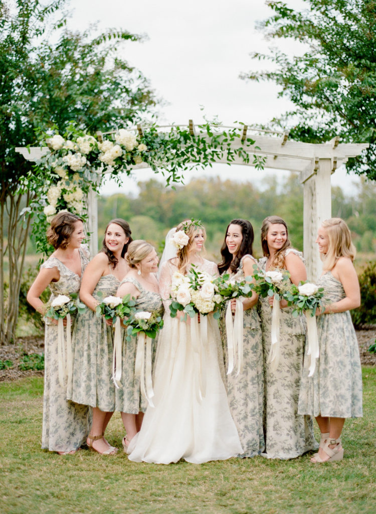 Ceremony, Blogger Wedding, Style Me Pretty Wedding, The Arbors Events, Modern Trousseau Wedding Dress, ASOS Bridesmaid Dresses, The Knotty Ties