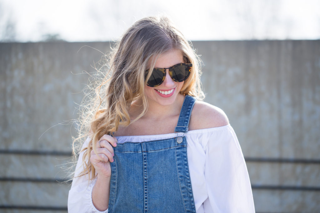 Madewell Skinny Overalls Drop Hem Edition, Skinny Overalls, Madewell Overalls, Dress Up Overalls, Karen Walker Harvest 50mm Retro Sunglasses