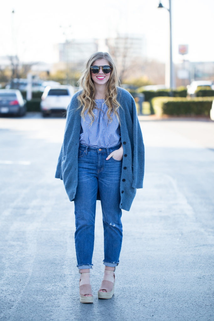 Transition Mom Jeans into Spring | Louella Reese