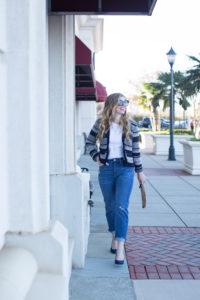 Loft Jacquard Stripe Sweater Jacket