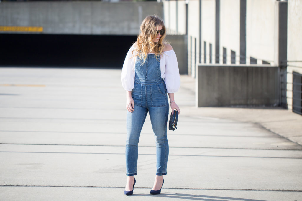 Wardrobe Essentials, Spring Wardrobe Essentials, Madewell Overalls, Marc Fisher Adalyn Wedges