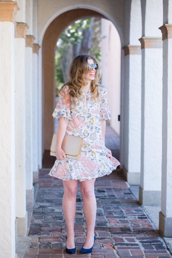 Floral Easter Dress, Easter Dress under $100, Spring Floral Dress, Louella Reese Floral Easter Dress