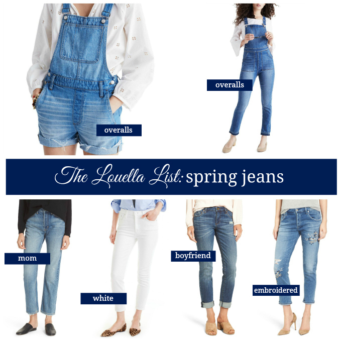 Jeans for Spring, Denim for Spring, Spring Jeans, Spring Denim, Overalls, Embroidered Denim, Boyfriend Jeans, Mom Jeans