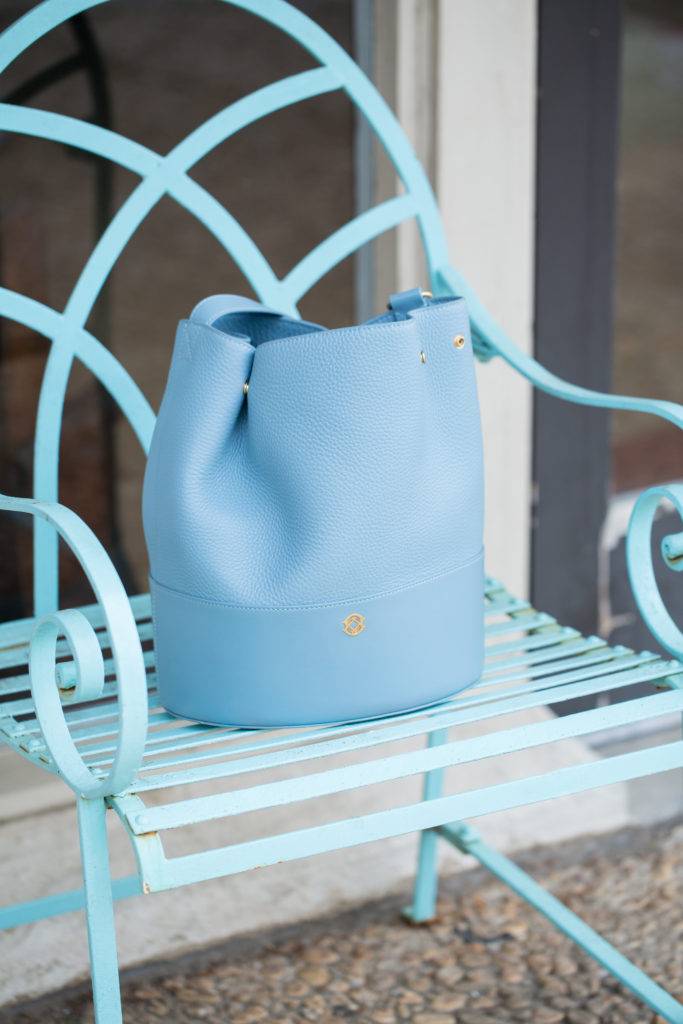 Louella Reese Spring Brunch Style // Baby Blue Bucket Bag