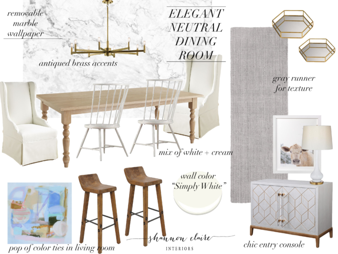 Louella Reese Home, Dining Room Inspiration, Dining Room Design Board