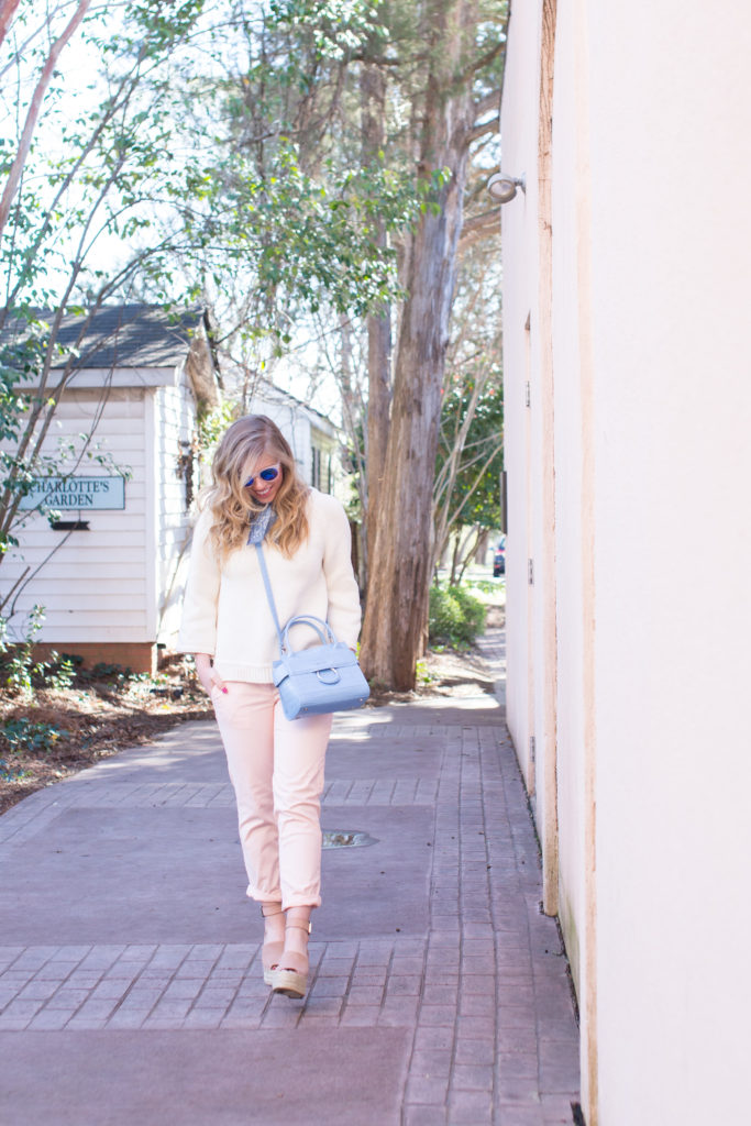 Pink Chinos, How to Style Pink Chinos, Spring Style