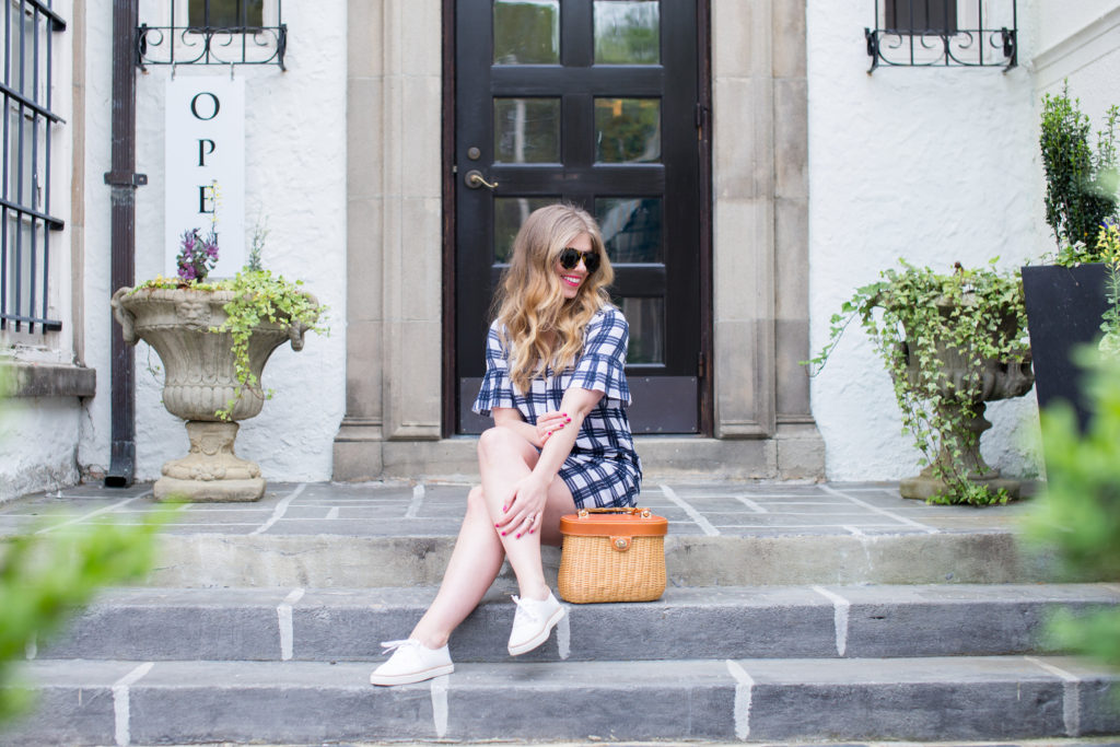 Louella Reese Plaid Dress + Basket Bag // Memorial Day Style