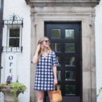 Plaid Dress & Basket Bag for Memorial Day