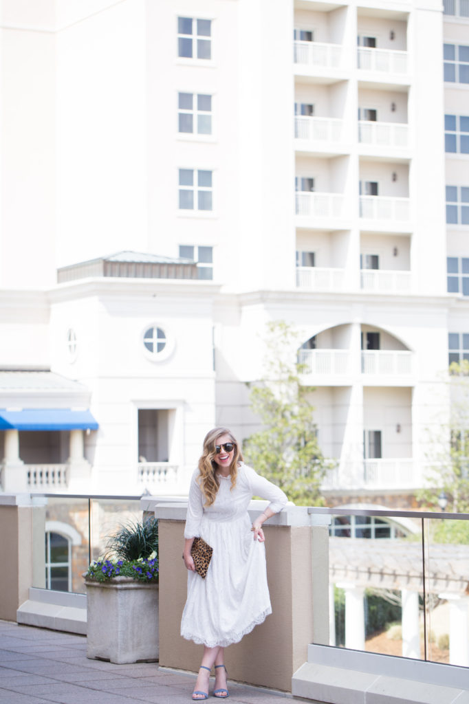 Louella Reese Lace Midi Dress // Spring Going Out Dresses