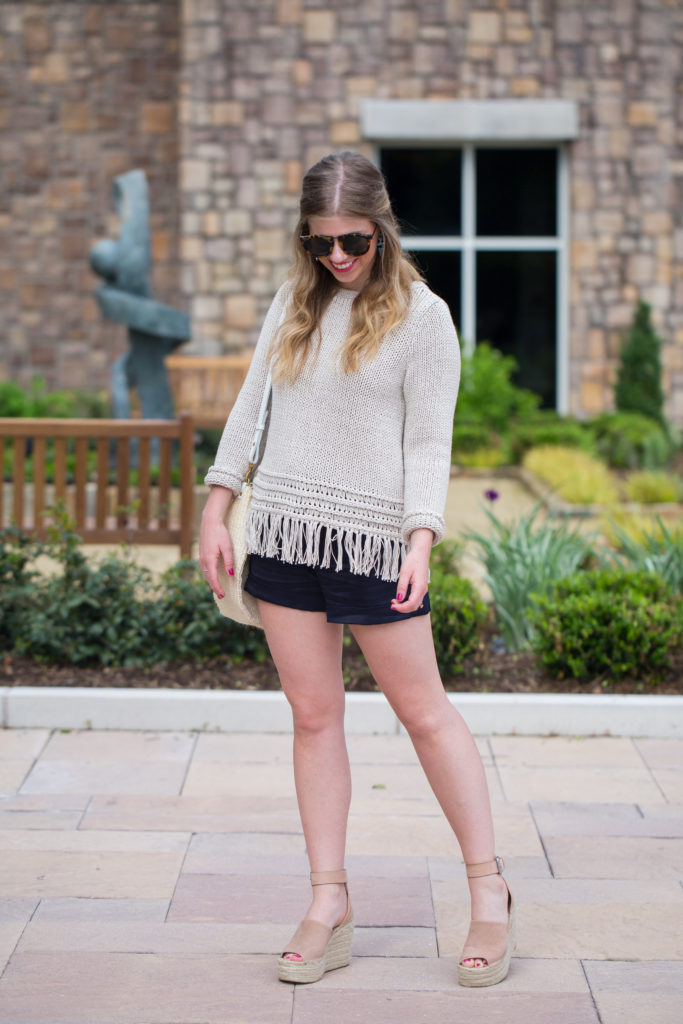 Louella Reese Fringe Sweater // Festival Style