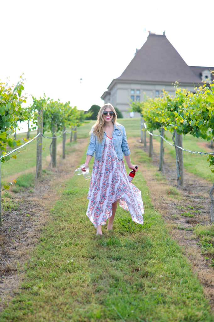 Louella Reese What to Wear to A Vineyard // Floral Scarf Dress