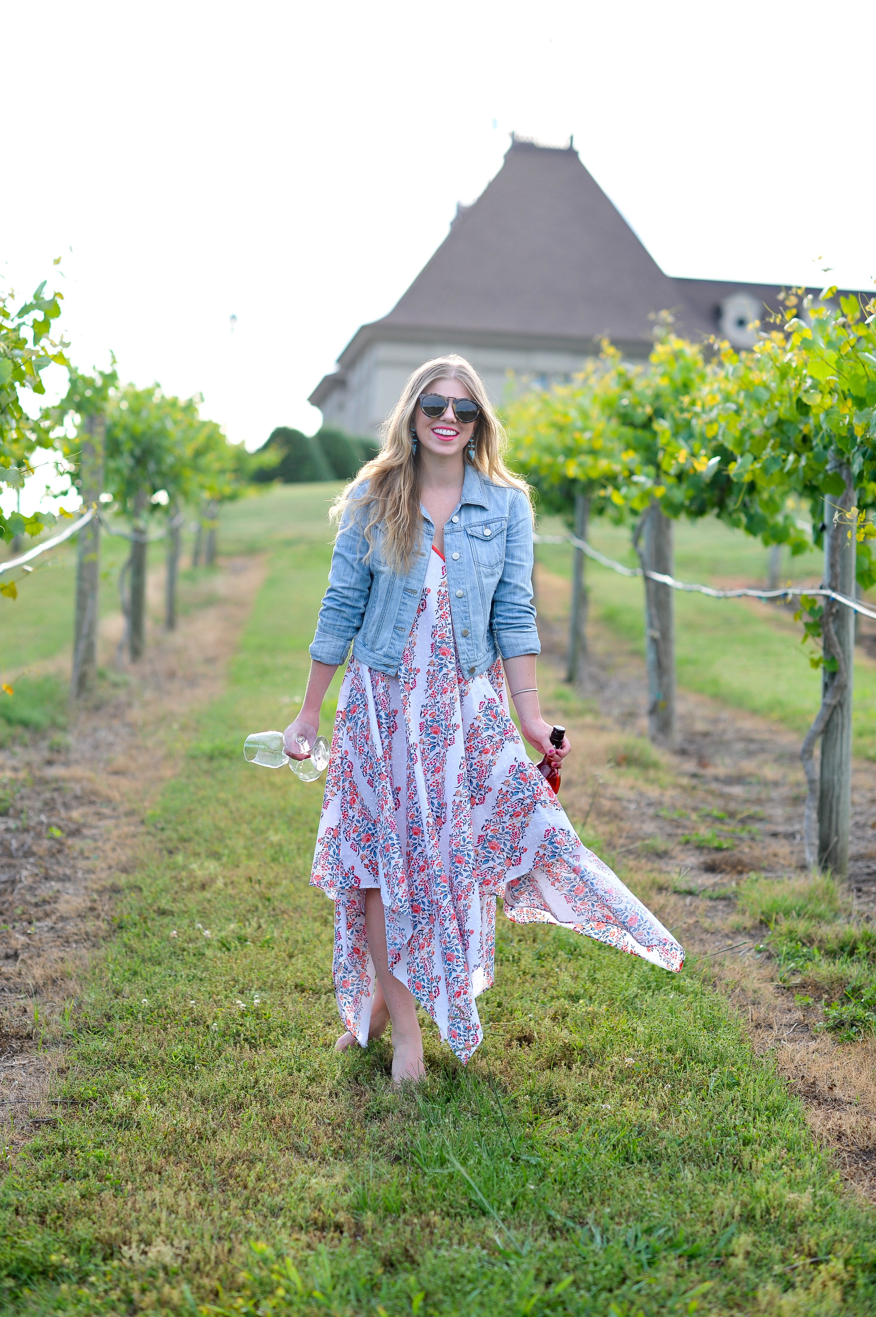 Louella Reese What to Wear to A Winery // Floral Scarf Dress