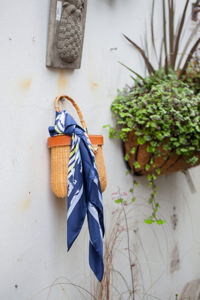 Louella Reese Basket Bag + Silk Scarf | Louella Reese | Charlotte Life & Style Blog
