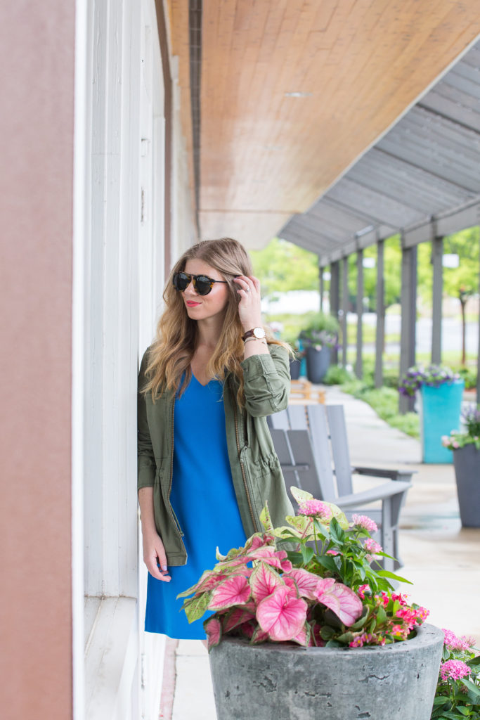 Blue Bell Sleeve Dress | Louella Reese | Life & Style Blog