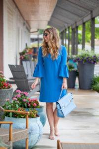 Blue Bell Sleeve Dress // Two Ways