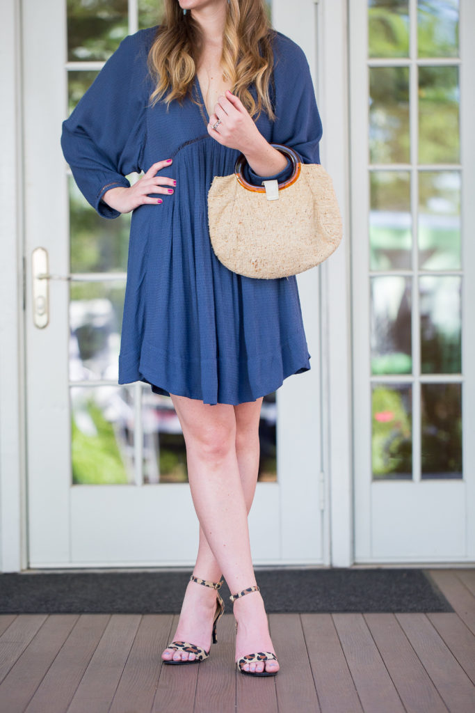 Louella Reese Free People Navy Swing Dress // What to Wear to a Summer Wedding