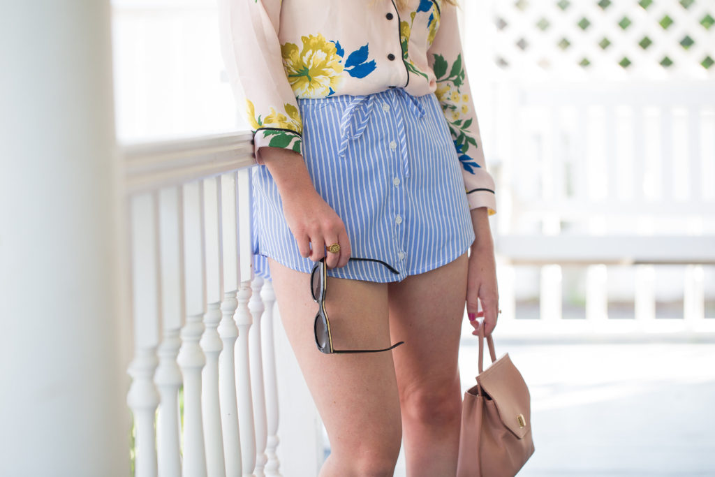 Blue and White Stripe Skort | Louella Reese | Life & Style Blog