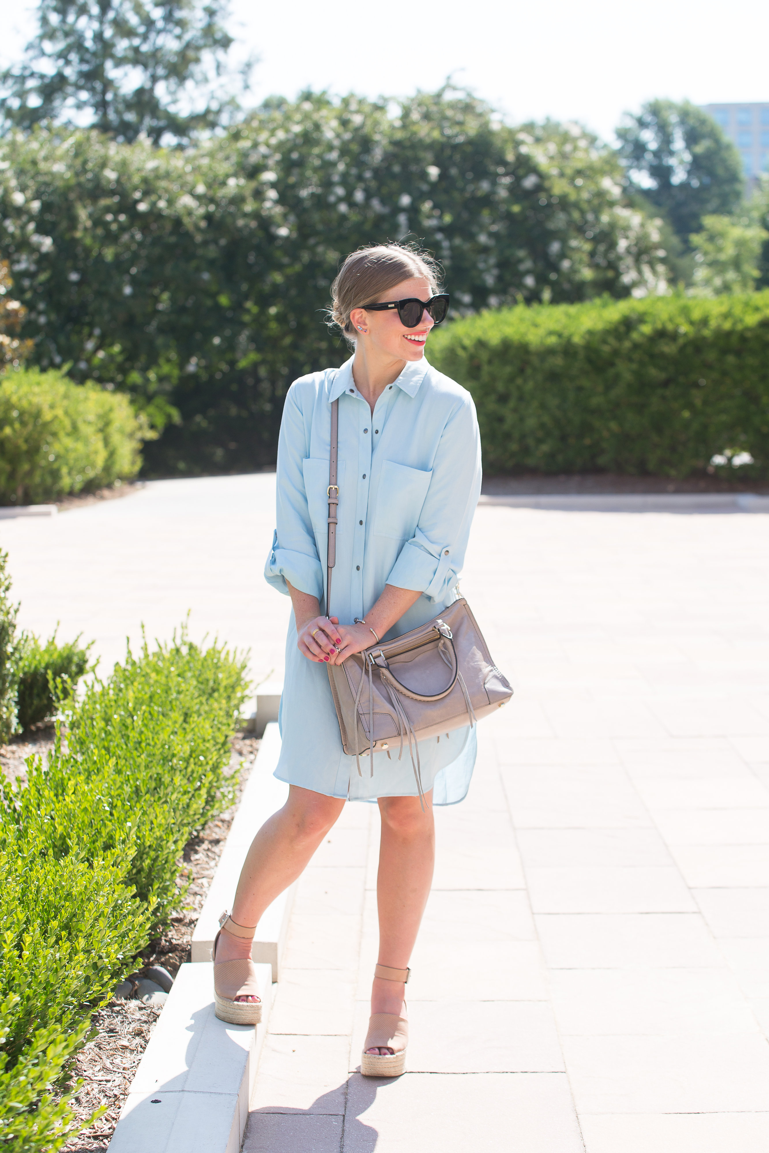 Chambray Shirt Dress // AreaTrend // Louella Reese // Life & Style Blog