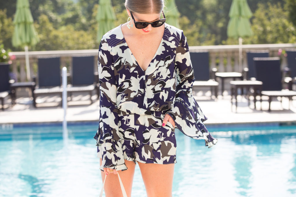 Parker Floral Statement Sleeve Romper // Louella Reese // Life & Style Blog