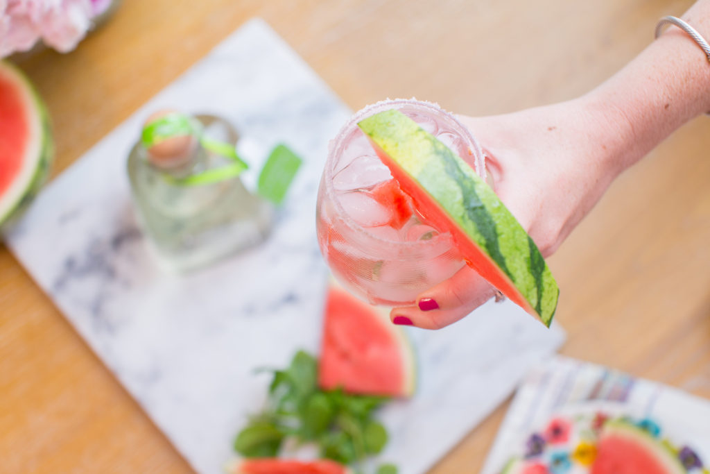 Skinny Watermelon Mint Margarita // Summer Cocktail // Louella Reese Life & Style Blog
