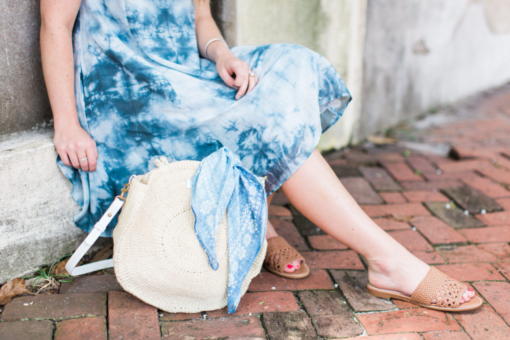 Blue Tie Dye Dress // Historic Savannah, GA // Louella Reese Life & Style Blog