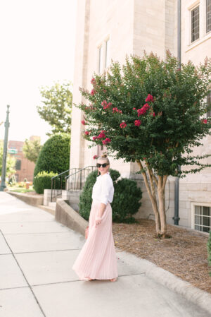 How to Style a Pleated Maxi Skirt