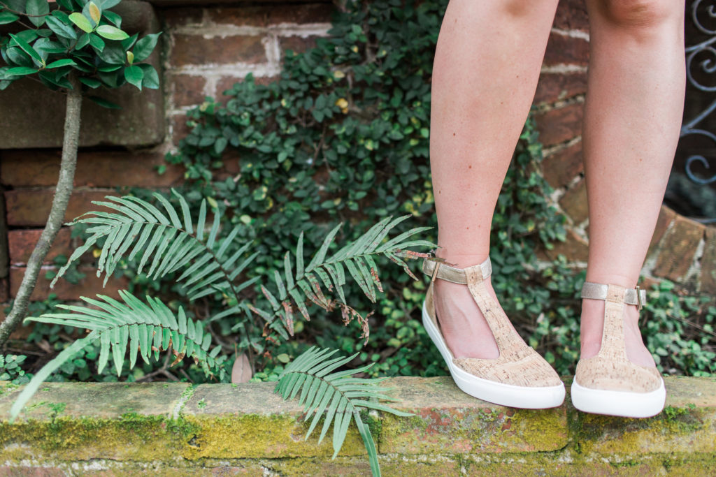 Cork Sneakers // Savannah Historic District // Louella Reese Life & Style Blog