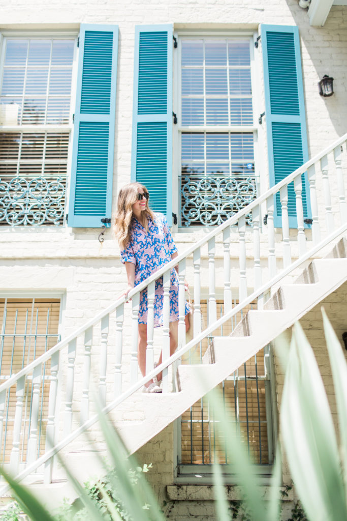 Floral Shirt Dress // Savannah Historic District // Louella Reese Life & Style Blog