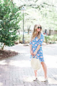 The Perfect Floral Shirt Dress // Savannah Historic District