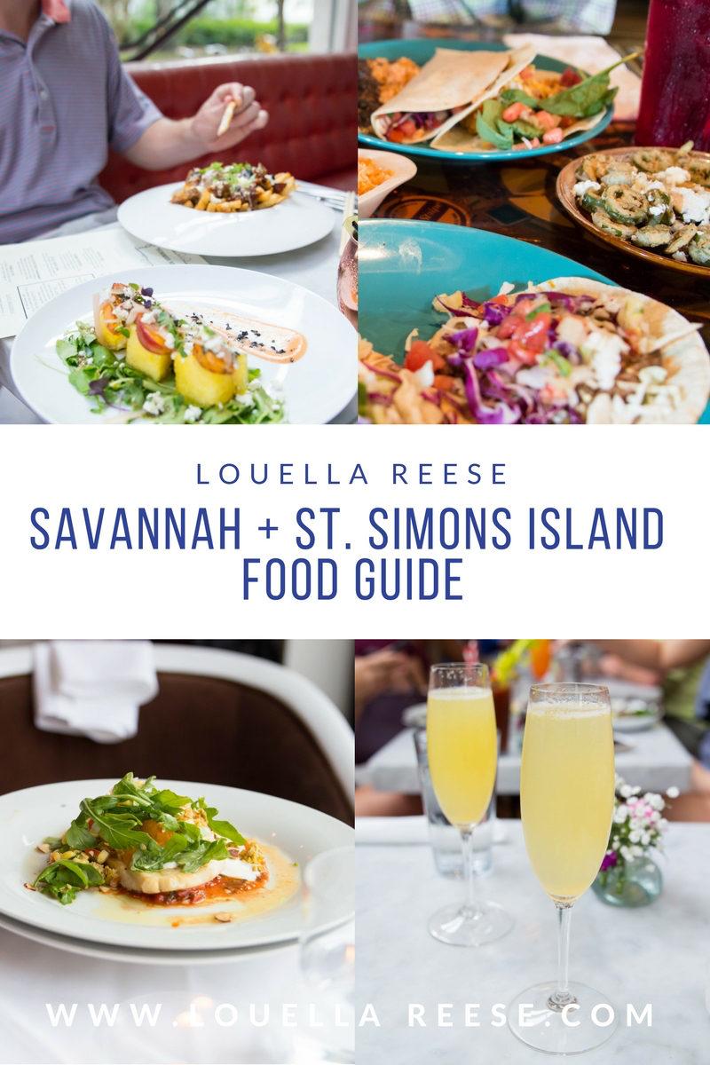 Savannah + St. Simons Island Food Guide