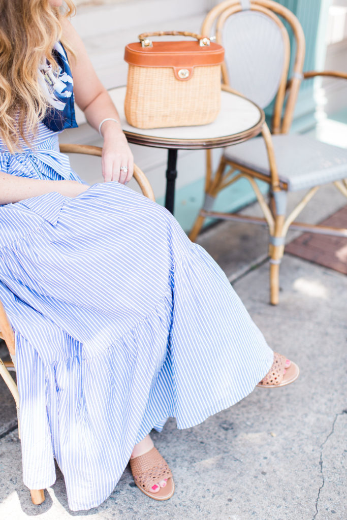 Tiered Maxi Dress in Stripe // Paris Market Savannah // Louella Reese Life & Style Blog