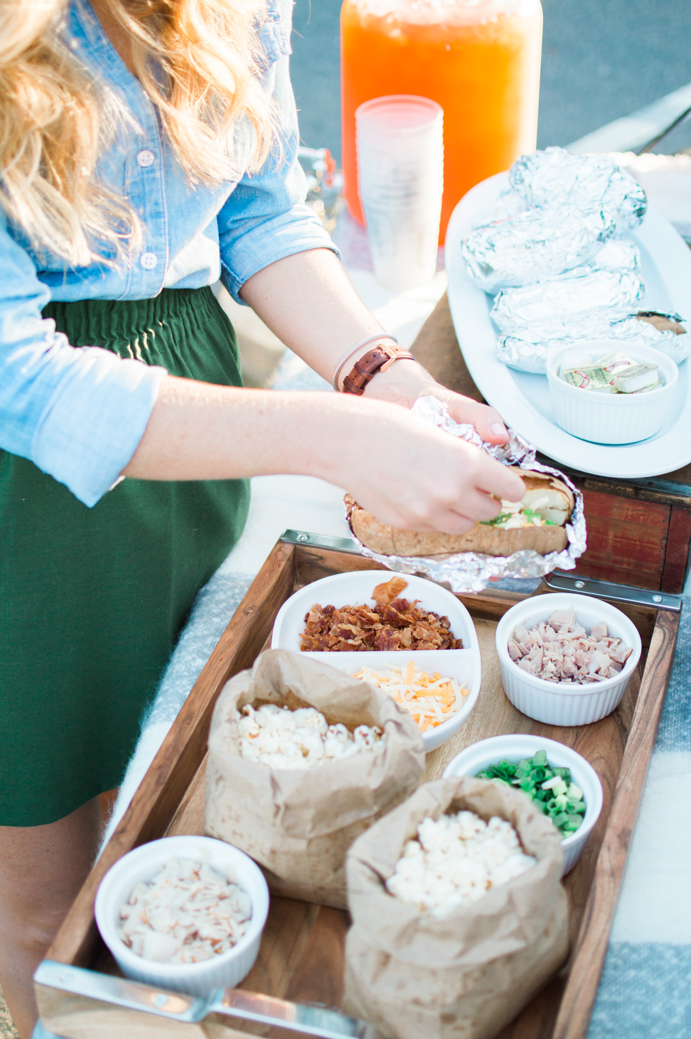 Cozy Chic Tailgate | McAlister's Deli Tailgate | Louella Reese Life & Style Blog