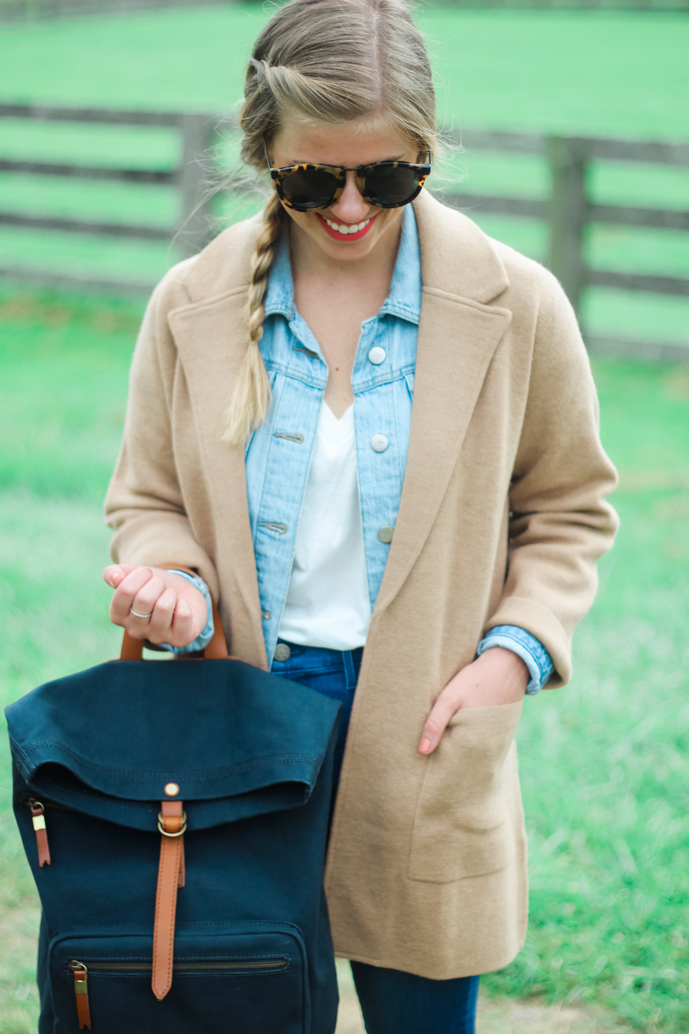 Denim on Denim | Fall Layering | Louella Reese Life & Style Blogger