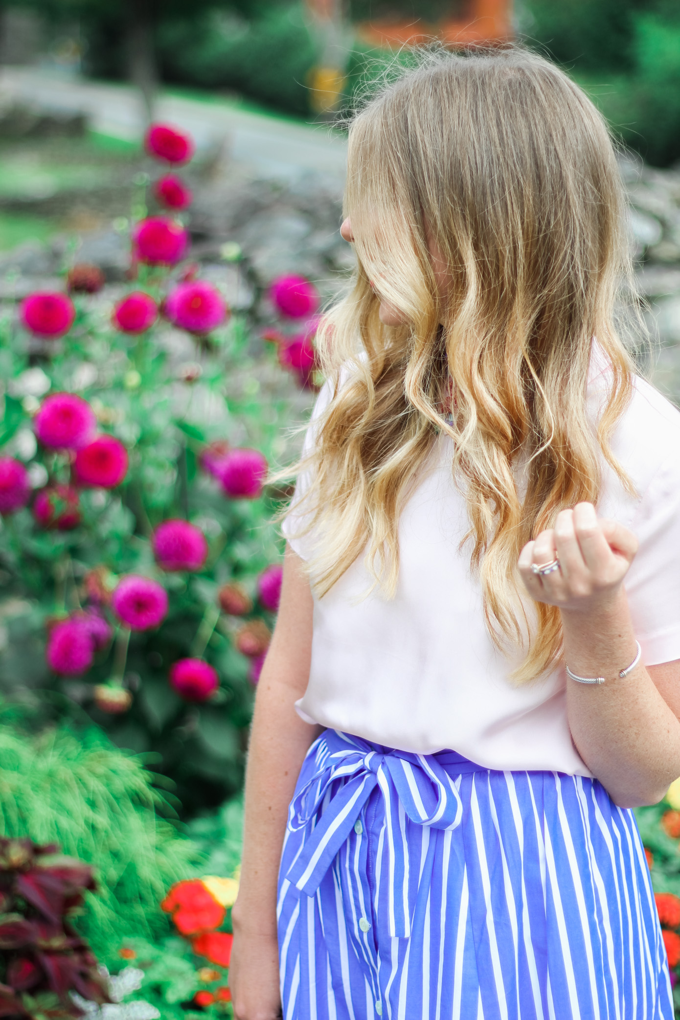 Millennial Pink Top // Draper James Blush Clementine Top // Louella Reese Life & Style Blog