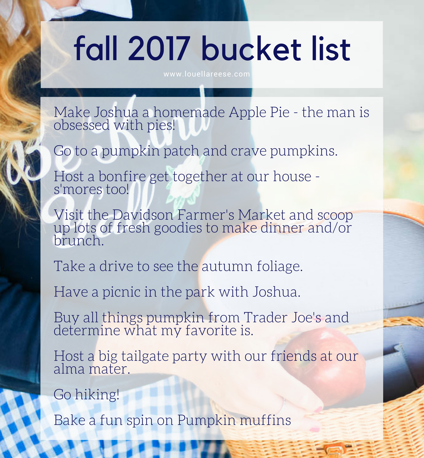 Fall 2017 Bucket List // What to do this Fall // Louella Reese Life & Style Blog