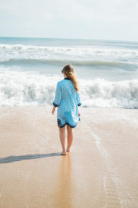 Blue and White Tunic Dress // Duck, NC