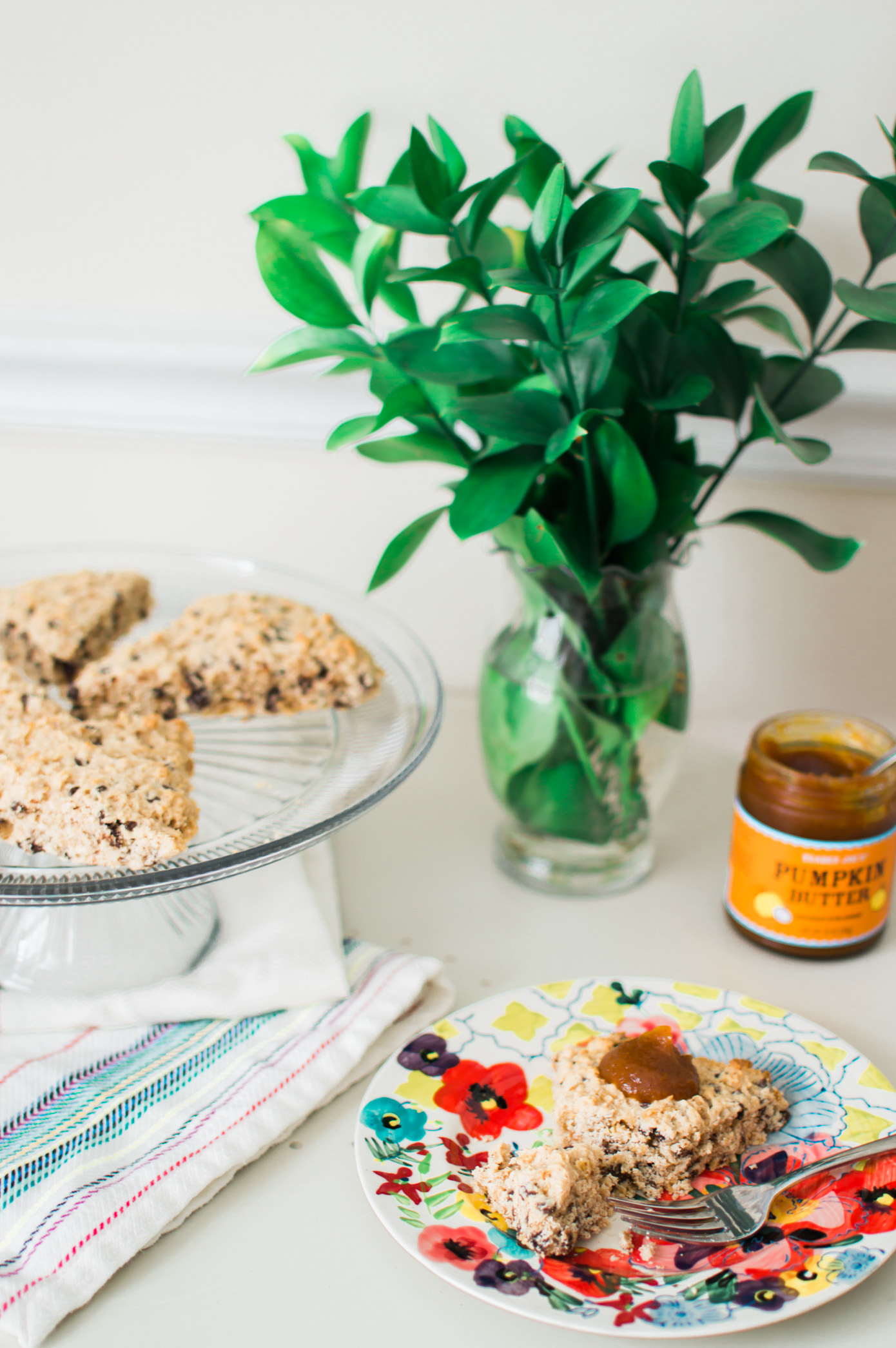 Chocolate Chip Scones with Pumpkin Granola | Fall Pumpkin Recipe | Louella Reese Life & Style Blog