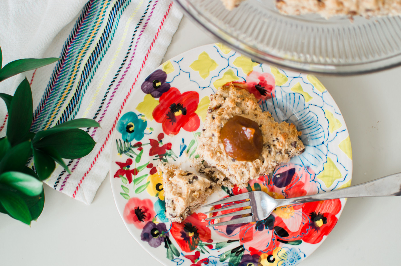 Chocolate Chip Scones with Pumpkin Granola | Fall Dessert Recipe | Louella Reese Life & Style Blog
