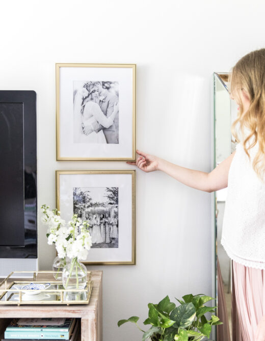 Wall Art & Decor | Wedding Photo Gallery Wall | Louella Reese Life & Style Blog
