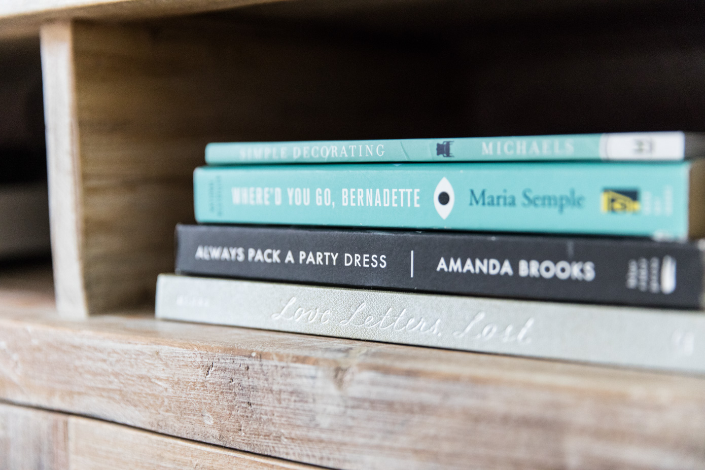 Family Room Decor | Stacked Books | Louella Reese Life & Style Blog