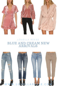 Blue and Cream New Arrivals + Weekend Sales