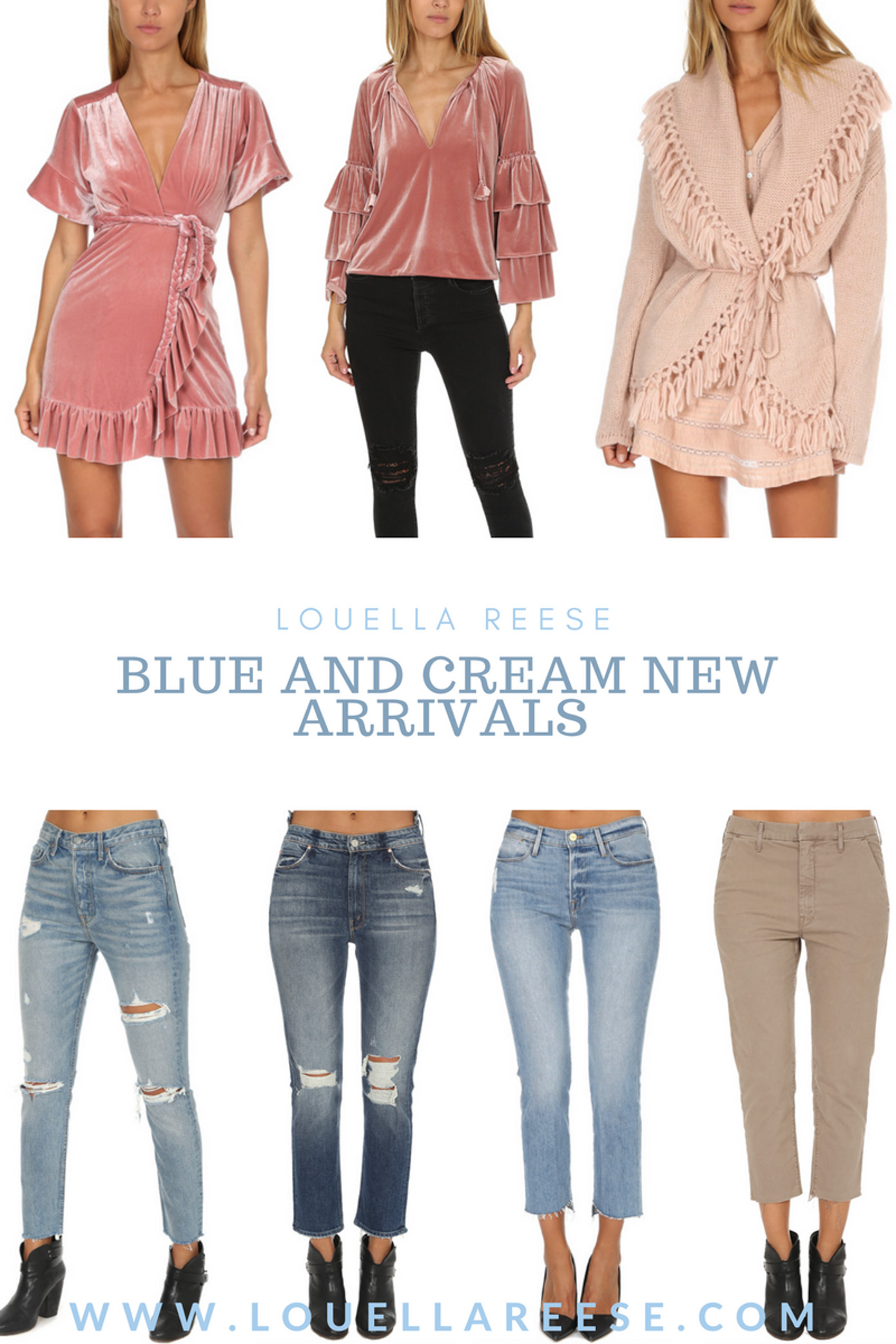 Blue and Cream New Arrivals | Fall Fashion | Louella Reese Life & Style Blog